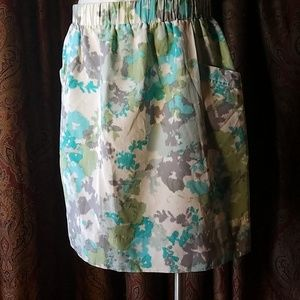 Blue and green multicolor skirt